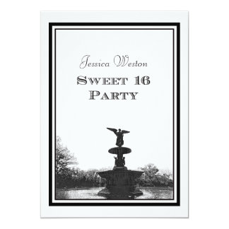 NYC Central Park Bethesda Ft DIY Etch Sweet 16 Custom Invite