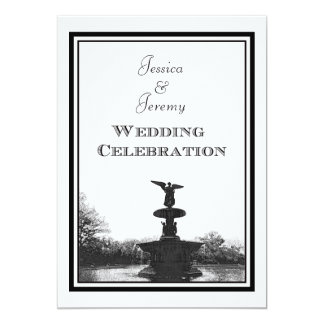 NYC Central Park Bethesda Ft DIY Etch Wedding Card