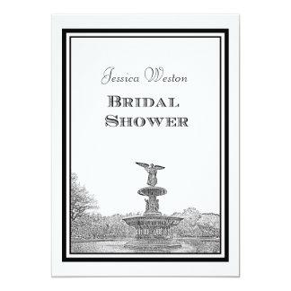 NYC Central Park Bethesda Ft Etch DIY Bridal Showr Card