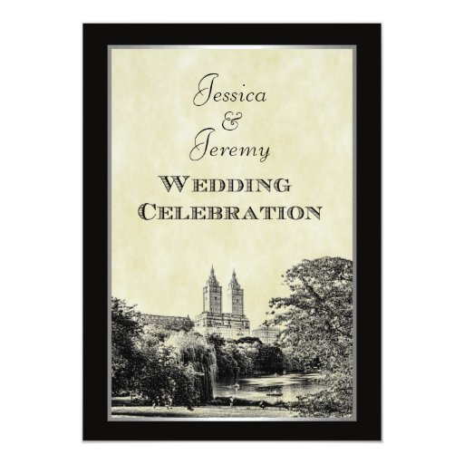 Unique Wedding Gifts Nyc : NYC Central Park Lake San Remo Etched Frm Wedding Card Zazzle