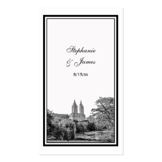 NYC Central Park Lake San Remo Etched Place Cards Double-Sided Standard Business Cards (Pack Of 100)