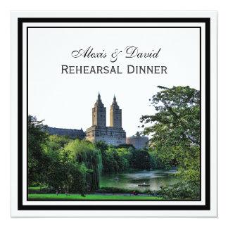 NYC Central Park Lake San Remo SQ Rehearsal 5.25x5.25 Square Paper Invitation Card