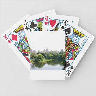 NYC Central Park Skyline Bicycle Playing Cards