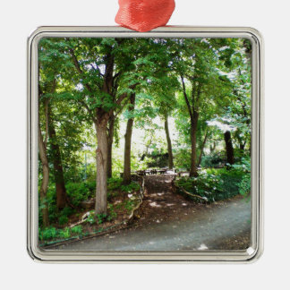 NYC Central Park Trail Metal Ornament
