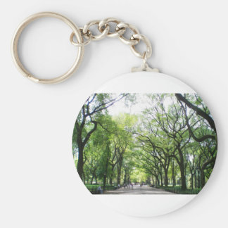 NYC Central Park Tree Tunnel Basic Round Button Keychain