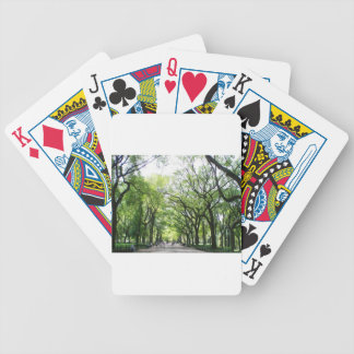 NYC Central Park Tree Tunnel Bicycle Playing Cards