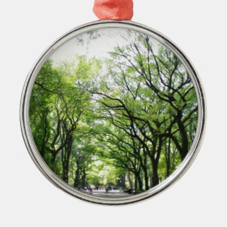 NYC Central Park Tree Tunnel Metal Ornament