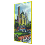 NYC Central Park View of 5th Ave Hotels Canvas Print