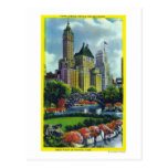NYC Central Park View of 5th Ave Hotels Postcards
