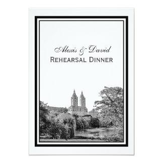 NYC Centrl Pk Lake San Remo Etchd SQ Rehearsal Card