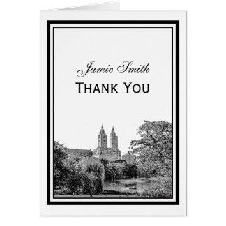 NYC Centrl Pk Lake San Remo Etchd Thank You Card