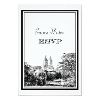 NYC Centrl Pk Lake San Remo Etched DIY RSVP Card