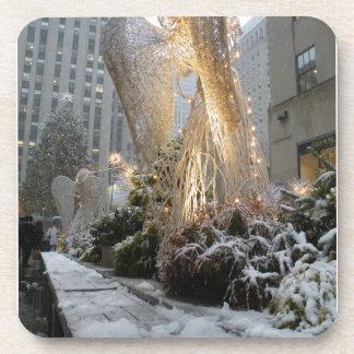 NYC Christmas Angel Drink Coaster