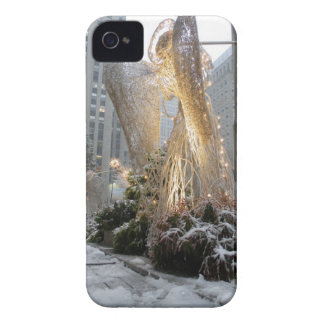 NYC Christmas Angel iPhone 4 Cover