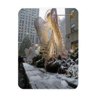 NYC Christmas Angel Rectangular Photo Magnet