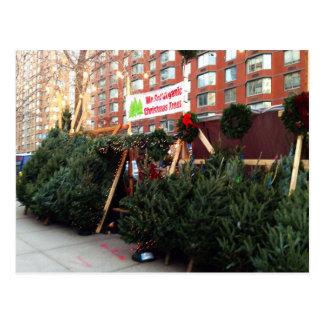 NYC Christmas Tree Stand Postcards