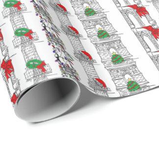 NYC Christmas Xmas New York Landmarks Gift Wrap