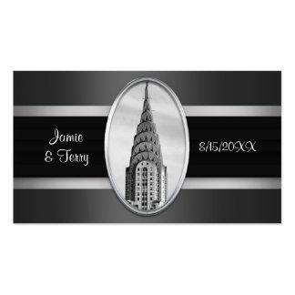 NYC Chrysler que construye tarjetas de plata Tarjetas De Visita