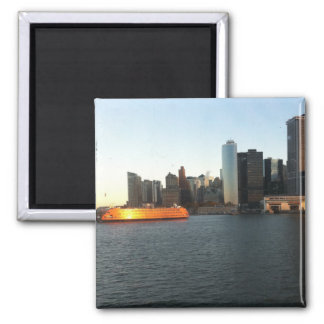 NYC City SkyLine 2 Inch Square Magnet