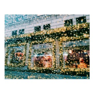 NYC Colorful Glittery Sparkling Landscape Photo Postcard