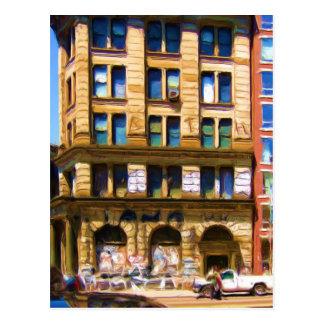 NYC colorido Streetcorner Postal