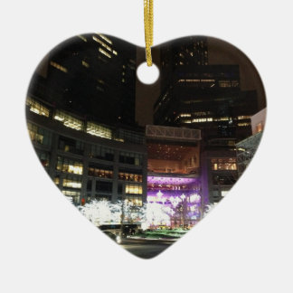 NYC Columbus Circle Christmas Lights Ornaments