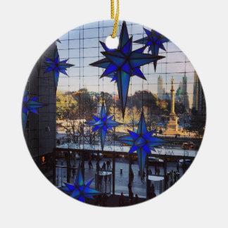 NYC Columbus Circle Christmas Ornaments