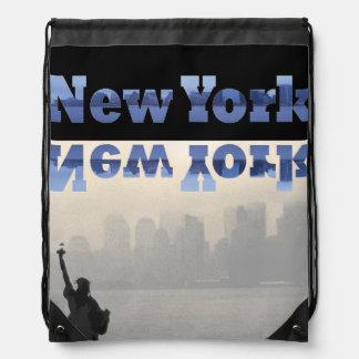 NYC Commuter Traveler New York City CricketDiane Drawstring Backpack