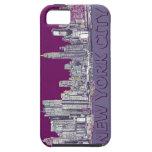 NYC con la lila púrpura iPhone 5 Protector