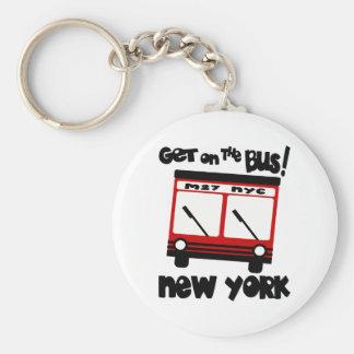 NYC, consiguen en el autobús con el autobús híbrid Llavero Redondo Tipo Pin