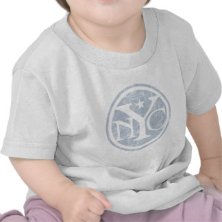 NYC descolorado envejecido Camisetas