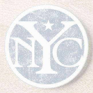 NYC descolorado envejecido Posavaso Para Bebida