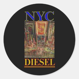 NYC DIESEL ROUND STICKERS