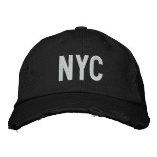 NYC DISTRESSED TWILL BASEBALL CAP