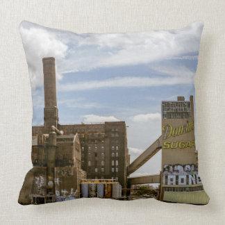 NYC Domino Sugar Factory Throw Pillow