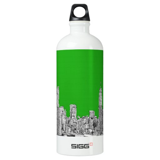NYC drawing bright green SIGG Traveler 1.0L Water Bottle