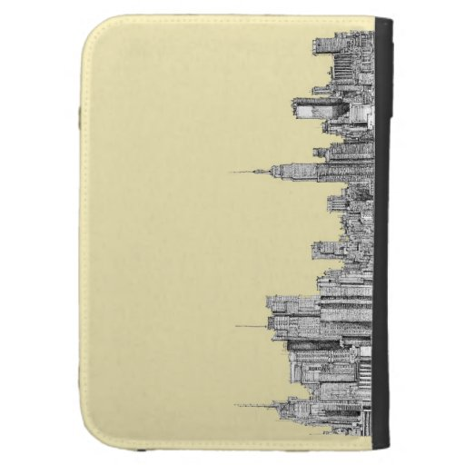 NYC drawing in cream ivory Cases For Kindle