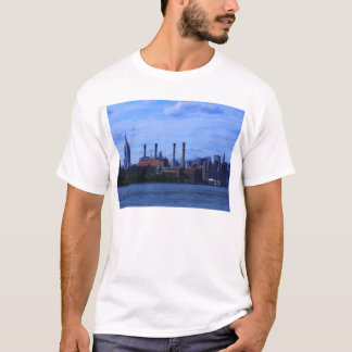 NYC East River Skyline: Skyscrapers & Smokestacks T-Shirt
