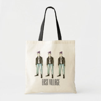 NYC East Village New York Punk Rocker Rock Tote Budget Tote Bag