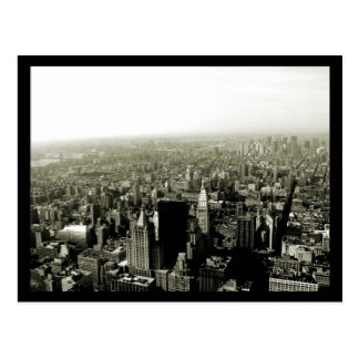 NYC Empire State View B W Postcard