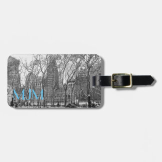 NYC en etiqueta del equipaje del monograma del Etiquetas Bolsas
