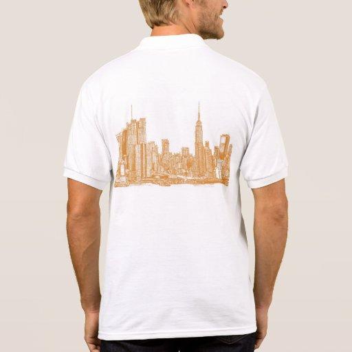 NYC en naranja Camiseta