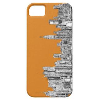 NYC en naranja iPhone 5 Case-Mate Carcasa