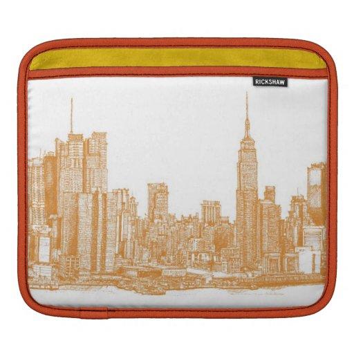 NYC en naranja Fundas Para iPads