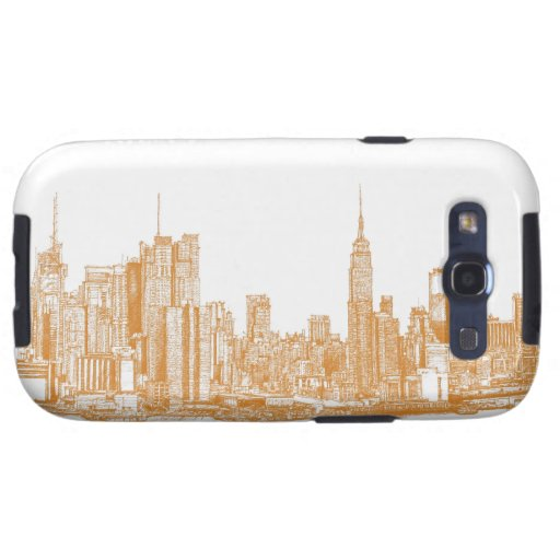 NYC en naranja Galaxy S3 Funda