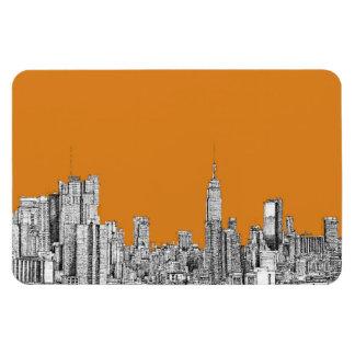 NYC en naranja Imán Flexible