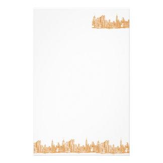 NYC en naranja Papelería De Diseño