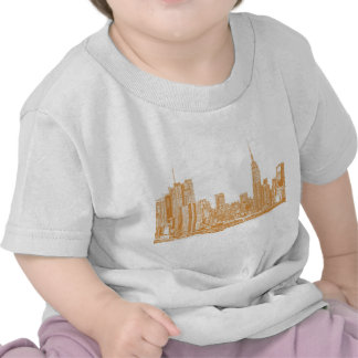 NYC en naranja Camisetas