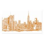 NYC en naranja Tarjeta De Negocio