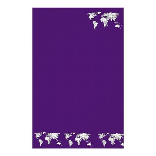 NYC en púrpura oscura Papelería